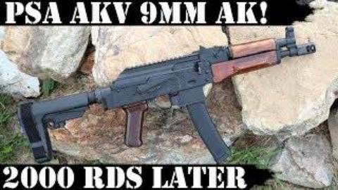 PSA 9mmAKv步枪2000发射击测试