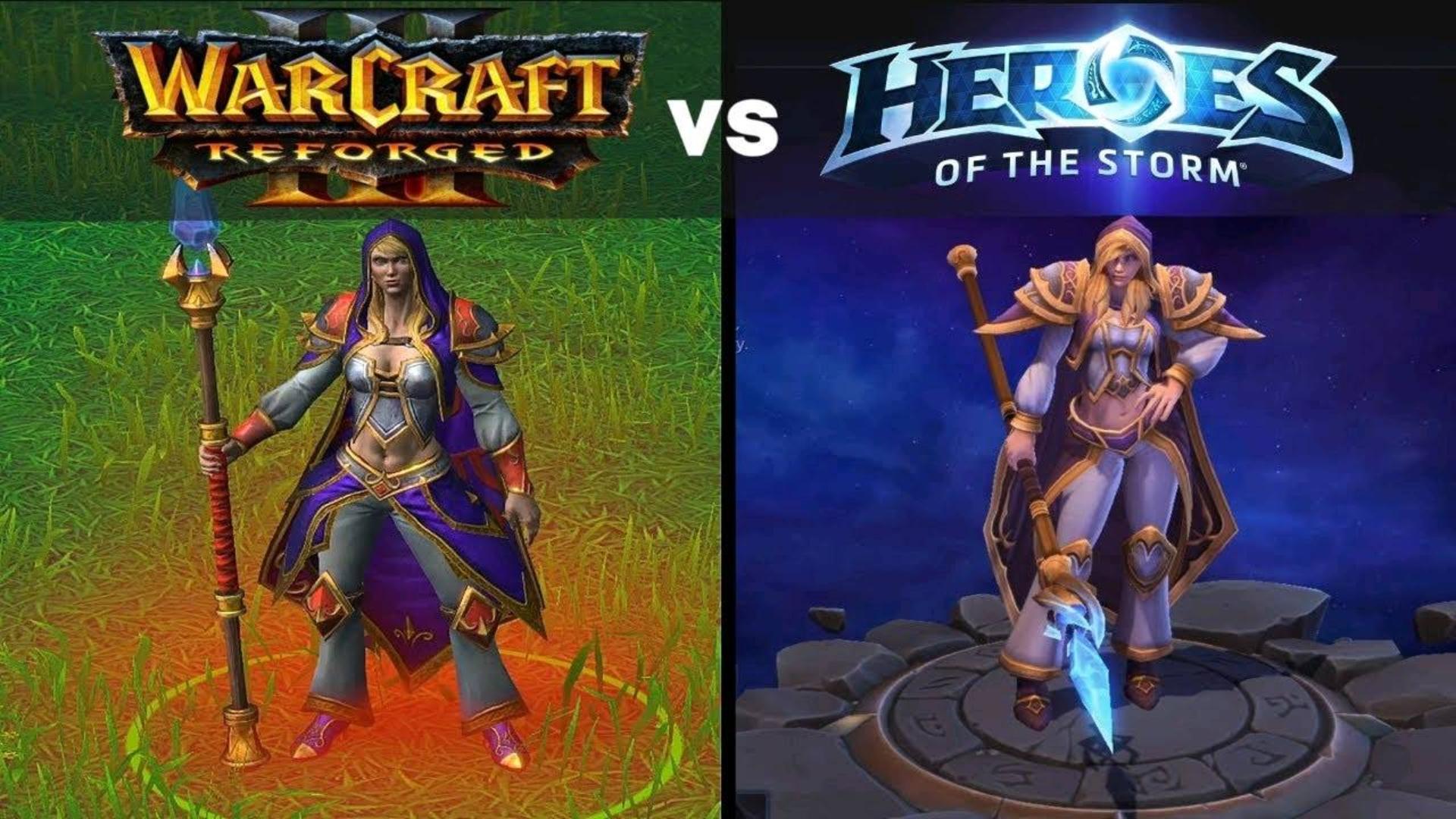 魔兽争霸3重制版模型VS风暴英雄模型并排对比