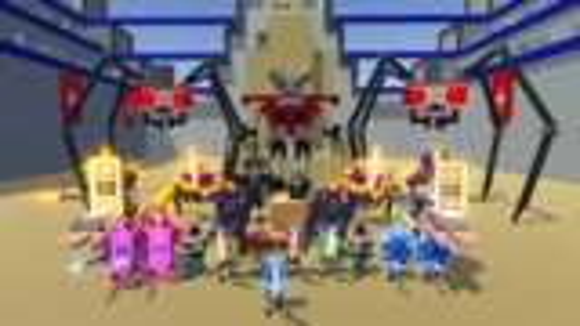 机器人大乱斗:超多机器人疯狂混战,谁才是最强的机械战士!