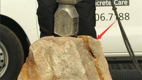 古代神兵器再现,机器60斤重,几秒劈开413吨岩石,啥墙都挡不住
