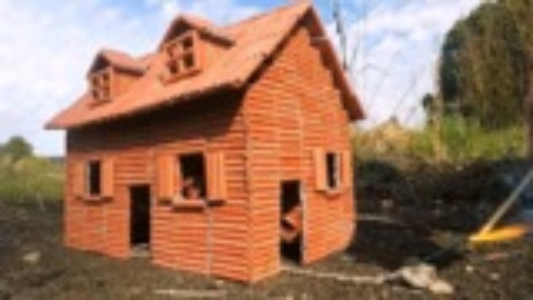 点燃由鞭炮DIY制作的小房子,画面太美了!