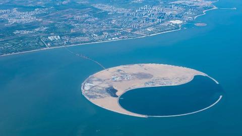 中国海域突现全球最大人工岛,西方瞬间炸锅:这是一座海上城市啊