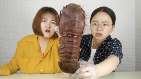 开箱一斤重158元的犀牛小龙虾,奥特曼的小怪兽偷渡过来了??!!