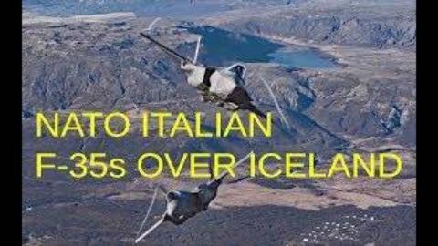 意大利空军F-35执行冰岛空中警戒任务展示