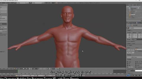 【Blender】Blender从头开始学习游戏角色建模制作教程(中英双字)