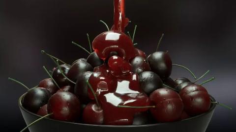 C4D流体插件realflow教程—樱桃蜂蜜酱