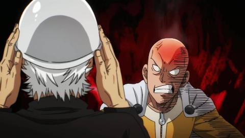 《一拳超人》第二季 17. 战斗!怪人王大蛇激战饿狼。。