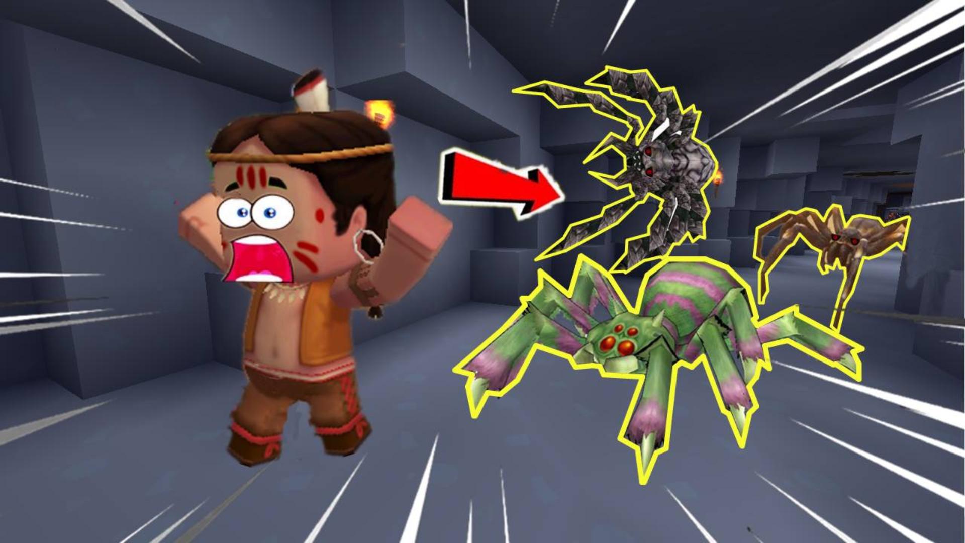 迷你世界荒岛生存25:小表弟下矿寻找物资,却被一群蜘蛛拦住去路