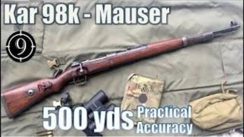 挑战使用毛瑟98k铁质瞄具射击500码目标