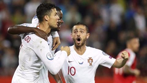 2020年欧洲杯预选赛第5轮 塞尔维亚vs葡萄牙 全场集锦