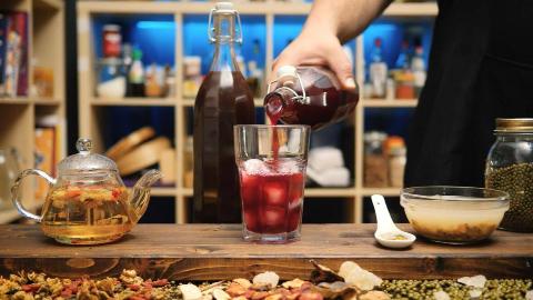 德国安东做菊花枸杞茶,酸梅汤