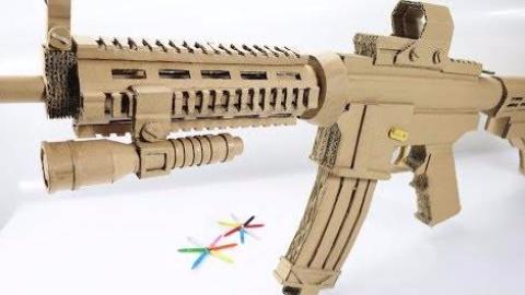 纸板玩具枪M4A1制作教程