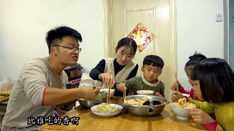 大sao做10斤芥菜丝,两盆打卤面试菜,俩侄女都被馋到了,过瘾