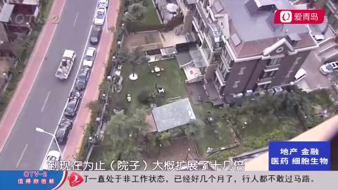 小区别墅引起高层业主注意,院子面积高达400多平,咋还越长越大