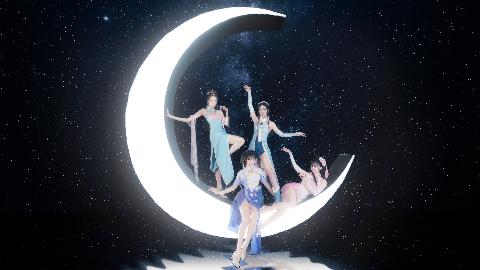 【紫 娜 欣 雪】月下起舞 只为你心动 【美人图】