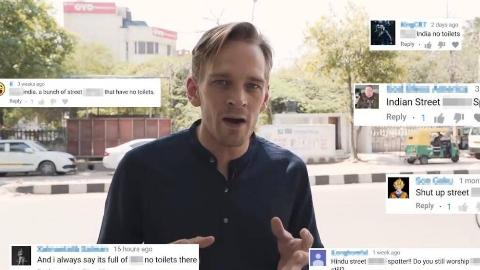 印度人真的会在街上大小便吗?真相!厕所打卡