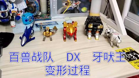 【牛健拼装】百兽战队  DX  牙吠王  简易变形过程