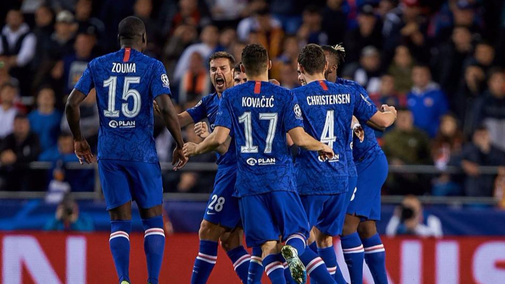 2019-2020赛季欧冠小组赛第5轮 瓦伦西亚vs切尔西 全场集锦