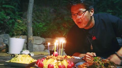 【野居青年】做一个麻辣土豆泥蛋糕,为肥圆庆祝二十四大寿