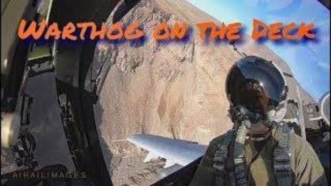 驾驶舱视角看A-10疣猪攻击机飞行展示