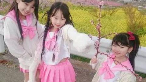 日本火爆萝莉偶像团FUJI SAKURA塾的现场表演,平均年龄只有7岁