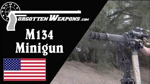 【被遗忘的武器/双语】M134 Minigun靶场试射