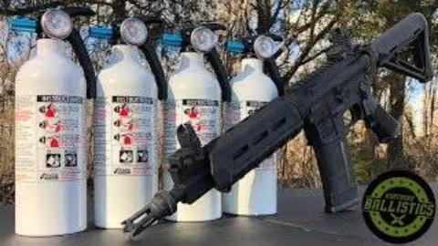 [Kentucky Ballistics]全自动AR-15 vs 灭火器