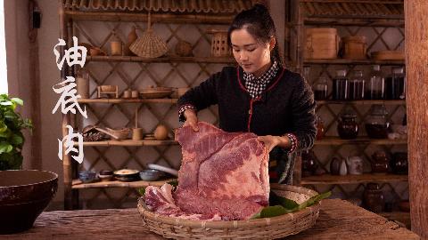 炼猪油,炸油底肉,提前准备过年菜。