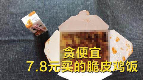 UP贪便宜7.8元买的脆皮鸡饭,结果实力打脸。。。。。。真香~