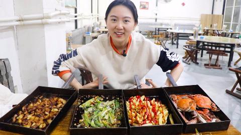 青岛霸气饭店,不提供食材,顾客自己带肉带菜!吃一桌老板收38元