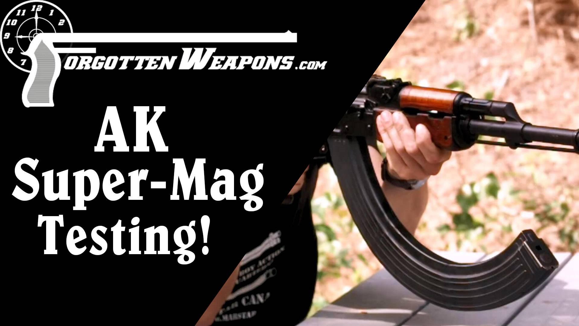 【被遗忘的武器/双语】实地测试90发的AK弹匣!