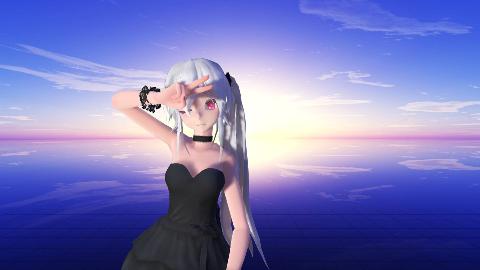 【mmd动画】小黑裙弱音,爱言叶