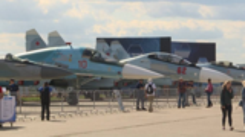 莫斯科航展开幕 军用飞机纷纷亮相