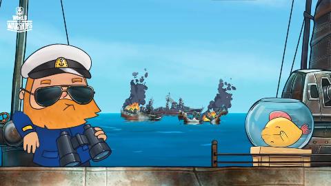 战舰世界:馒头船长反败为胜岛风驱逐舰18万伤害高能搞笑全程实况
