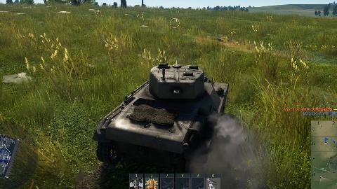 战争雷霆:蝗虫轻型坦克草地上一路狂飙