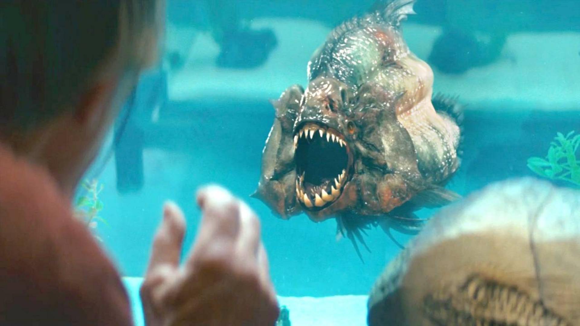 湖底震出大裂缝,释放出200万年前远古食人鱼,游客们遭殃了!速看科幻恐怖电影《食人鱼3D》