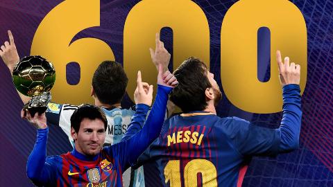 梅西生涯600球记录!横扫欧陆万众瞩目(05-18)