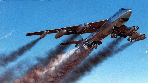 【讲堂499期】战后美国从德国盗走技术,用在最新的轰炸机上,研发出B-47轰炸机
