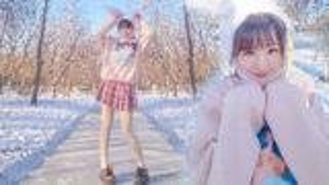 【秋月】兔子舞【零下20度冻僵的兔子】