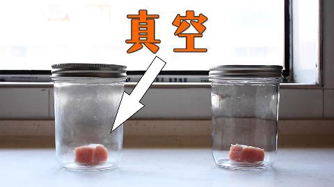 把一块肉放在真空瓶里一个月,它会烂吗?