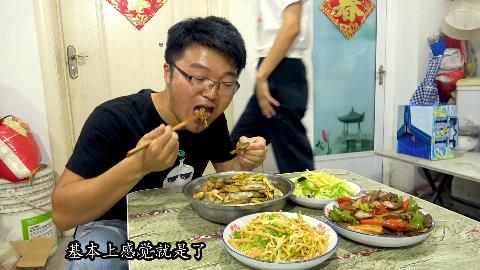 大sao晚饭加餐,三斤香辣蛏子配土匪猪肝,自己吃一盆,真过瘾