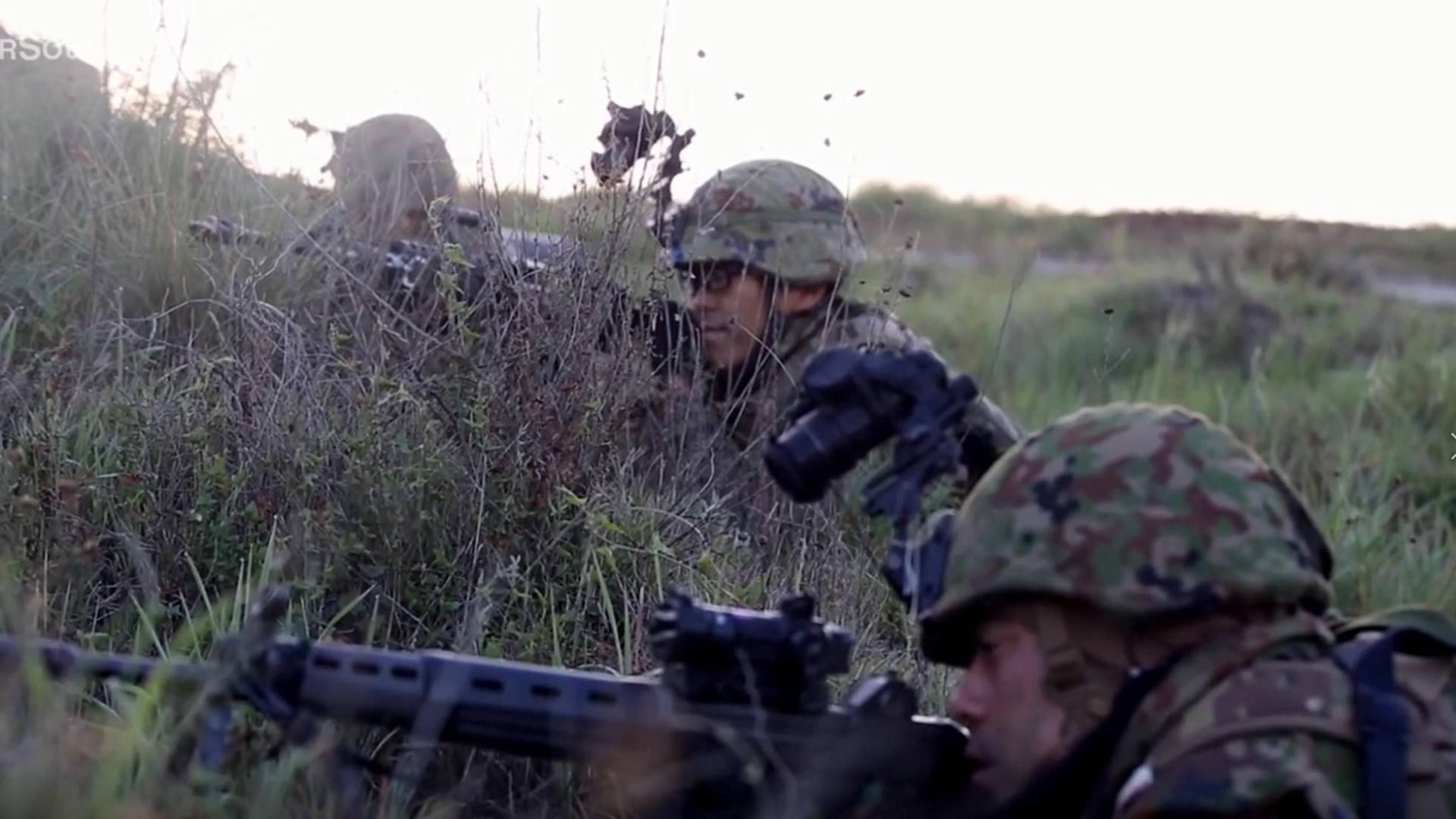 【凯申搬运】【生肉】陆上自卫队普通科连队伏击空降之敌演习画面