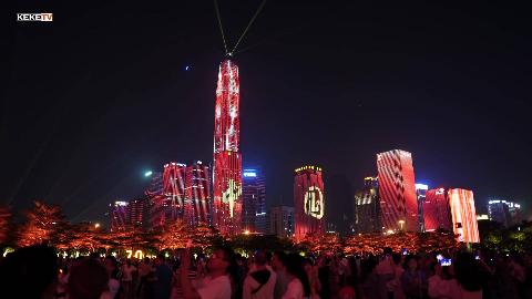 2019深圳灯光秀70周年国庆完整版,祝福伟大的祖国繁荣昌盛