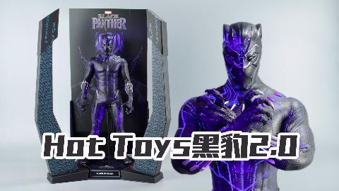 Hot Toys黑豹2.0,用紫光灯照射的瞬间我惊呆了!【涛哥测评】