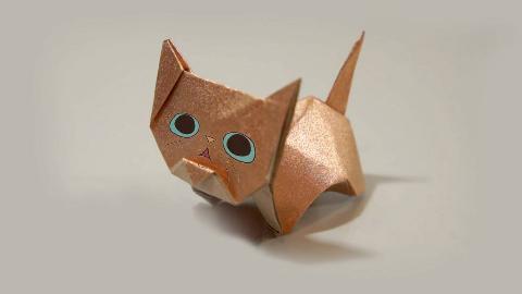 超可爱的小猫咪折纸,简单有趣,一步一步教你!
