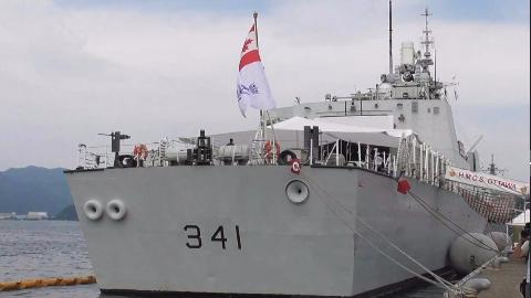 """深入参观访问日本的加拿大海军""""渥太华""""号护卫舰"""