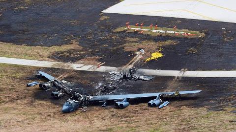 突发!美国本土F16战机撞击大楼坠毁!论摔飞机印度跟美国差远了