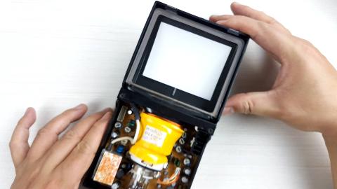 拆解黑白电视机同款CTR显像管套件,了解它的内部构造和成像原理