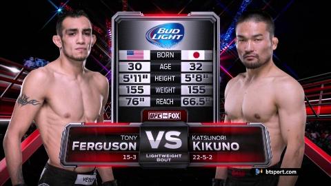 UFC:夜魔 托尼-弗格森 VS 菊野克纪