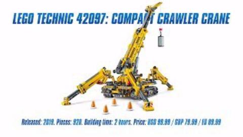 【仓鼠评测】乐高科技系列42097 LEGO Technic 42097 紧凑型履带起重机素组评测